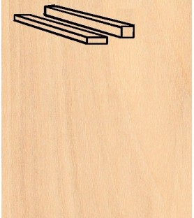 PAQUETE LISTON ABEDUL 2x6x914 mm (25 u)
