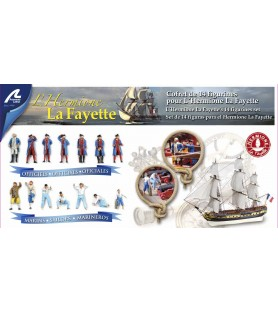 Hermione La Fayette: Set of 14 metal figures