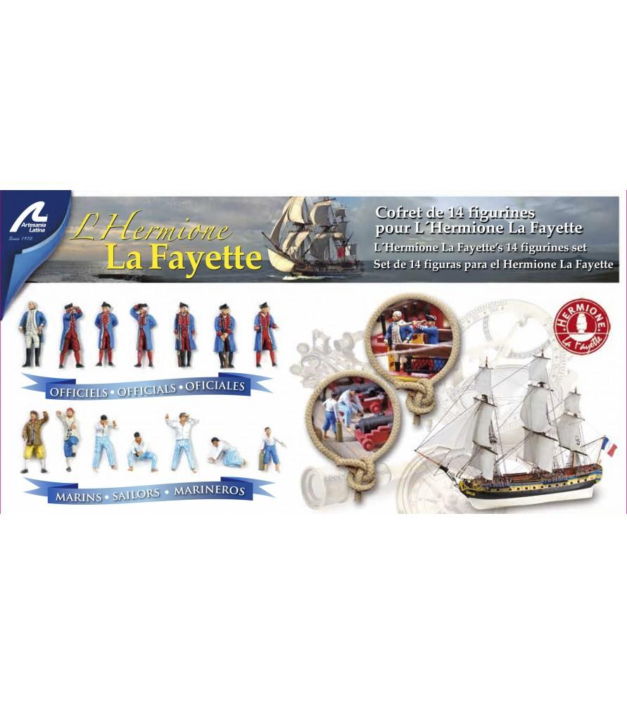 Hermione La Fayette: set de 14 figuras en metal