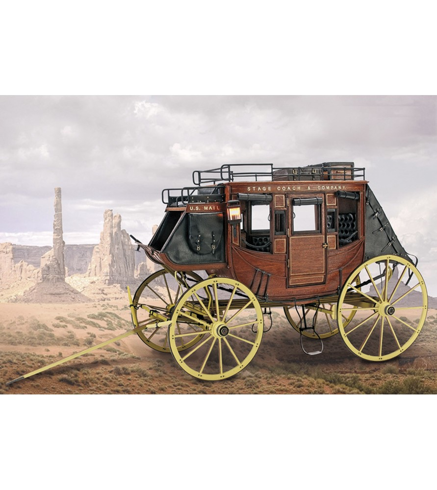 Wooden Model Kit: Stage Coach 1848 1/10