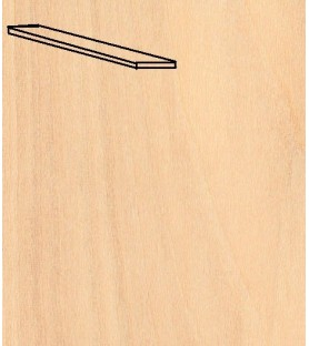 Box Sheet TILIA TREE cover 0.6X4x1000 mm (25 u)