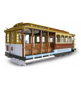 "Maqueta en Madera: Tranvía San Francisco ""Powell Street"" Cable Car 1/22"
