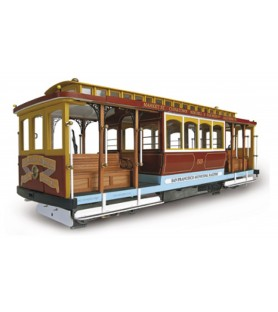 "Wooden model: San Francisco tram ""California Street"""