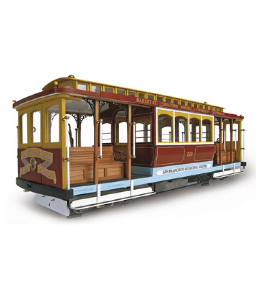 """Maqueta en madera: Tranvía de San Francisco """"California Street"""""""