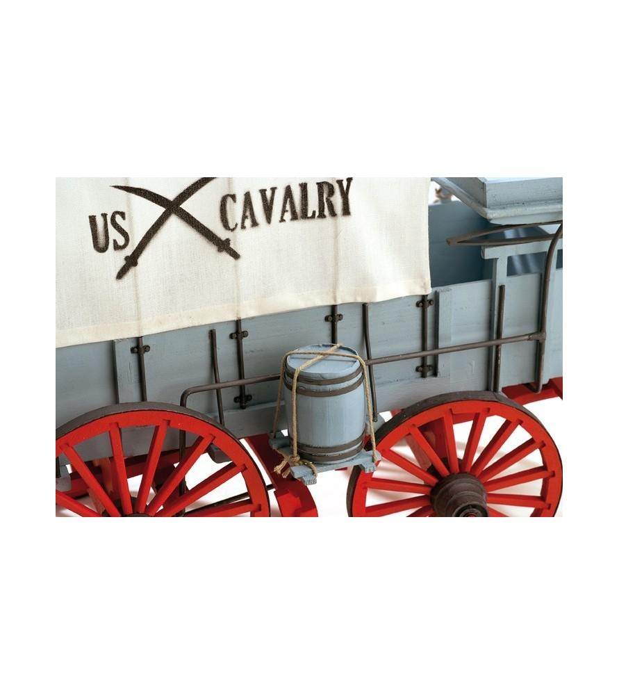 Maqueta en madera: Carreta del séptimo de caballería