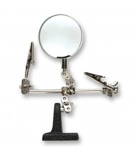 Articulated arm with magnifier