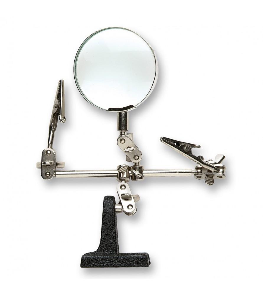 Magnifying glass tweezers