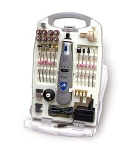 Taladro con batería de LI-ION en maletín con 120 accesorios