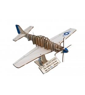 Maquette Avion de Chasse en Bois: North American P-51 Mustang 1/48