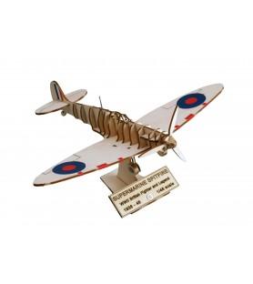 Maquette Avion de Chasse en Bois: Supermarine Spitfire. Bataille d'Angleterre 1/48