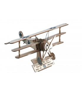 "Maquette Avion de Chasse en Bois: Fokker DR. I ""Baron Rouge"" 1/32"