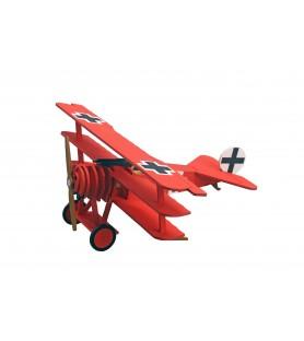 Maqueta en Madera para Niños: Avión Triplano Fokker Dr. I - Barón Rojo