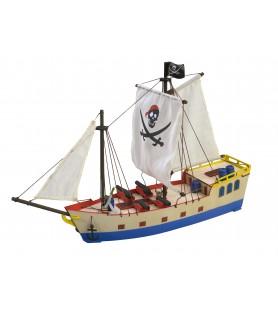 Maqueta en Madera para Niños: Barco Pirata