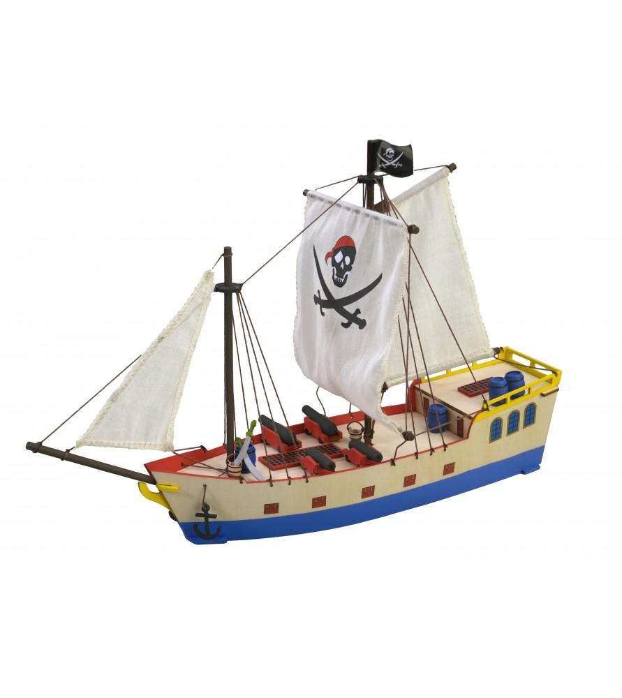 Juegos de Contrucción  Maqueta en madera para Niños del Barco Pirata 433ebe83fd6