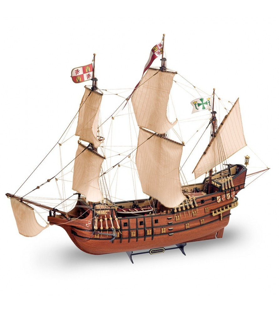 Wooden Model Ship Kit: New Galleon San Francisco II 1/90