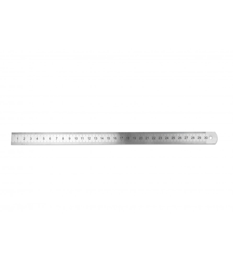STAINLESS STEEL RULER 300 x 19 x 1 mm