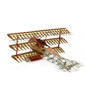 Maqueta en madera: Fokker Dr.I El Avión del Barón Rojo.