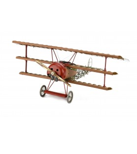 Maquette en Bois et Métal: Avion Fokker Dr.I, Triplan du Baron Rouge 1/16