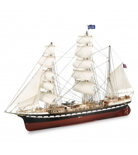 Wooden Model Ship Kit: French Training Ship Belem 1/75