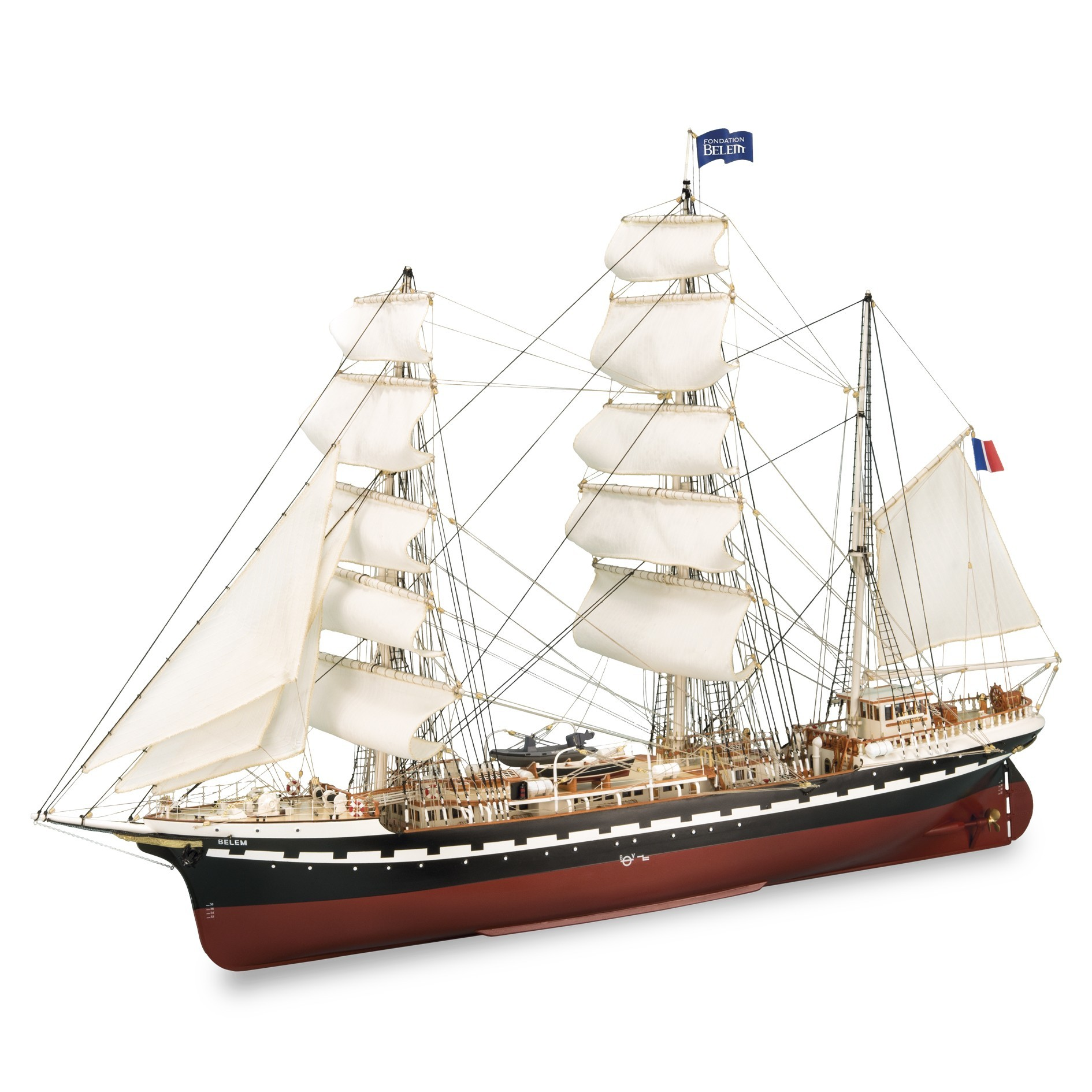 wooden model ship kit belem the french training sailboat of 1896