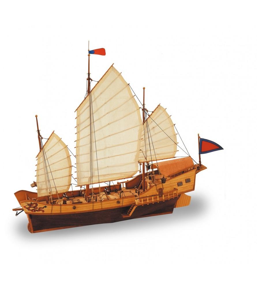Wooden Model Ship Kit: Red Dragon 1/60