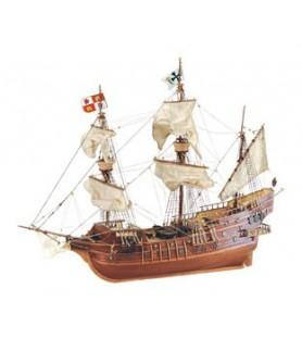 Maqueta de Barco en Madera: Galeón Español San Juan S. XVI 1/90
