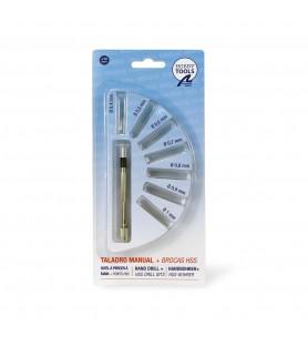 Mini Taladro Manual con 7 Brocas HSS