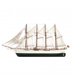 Maqueta de Barco en Madera: Buque Escuela Juan Sebastián Elcano 1/110