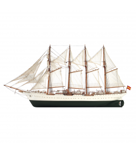 Wooden Model Ship Kit: Spanish Training Ship Juan Sebastian Elcano 1/110