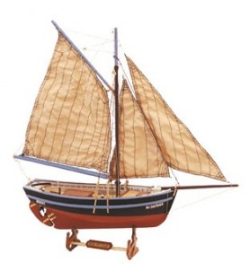 Wooden Model Ship Kit: Bon Retour 1/25