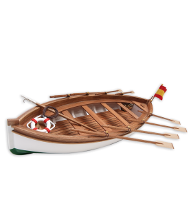 Wooden Model Ship Kit: Lifeboat of Spanish Training Ship Juan Sebastian Elcano 1/35