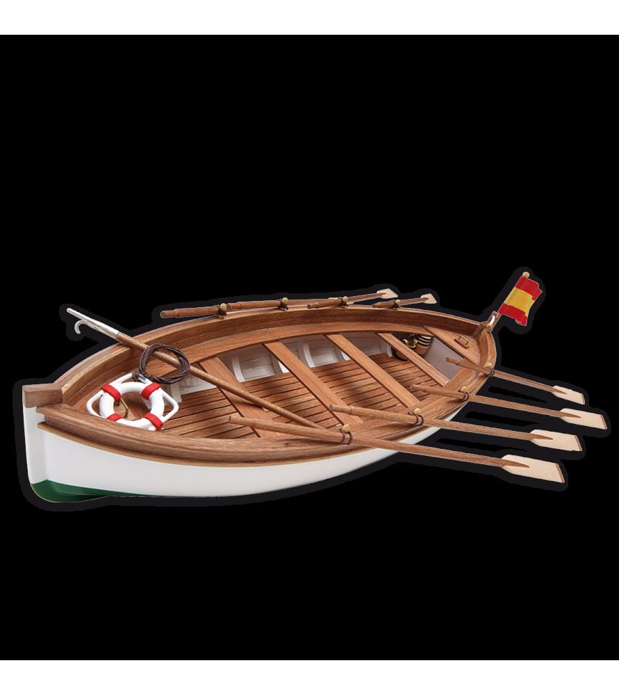 Maqueta de Barco en Madera: Bote Salvavidas Juan Sebastián Elcano 1/35