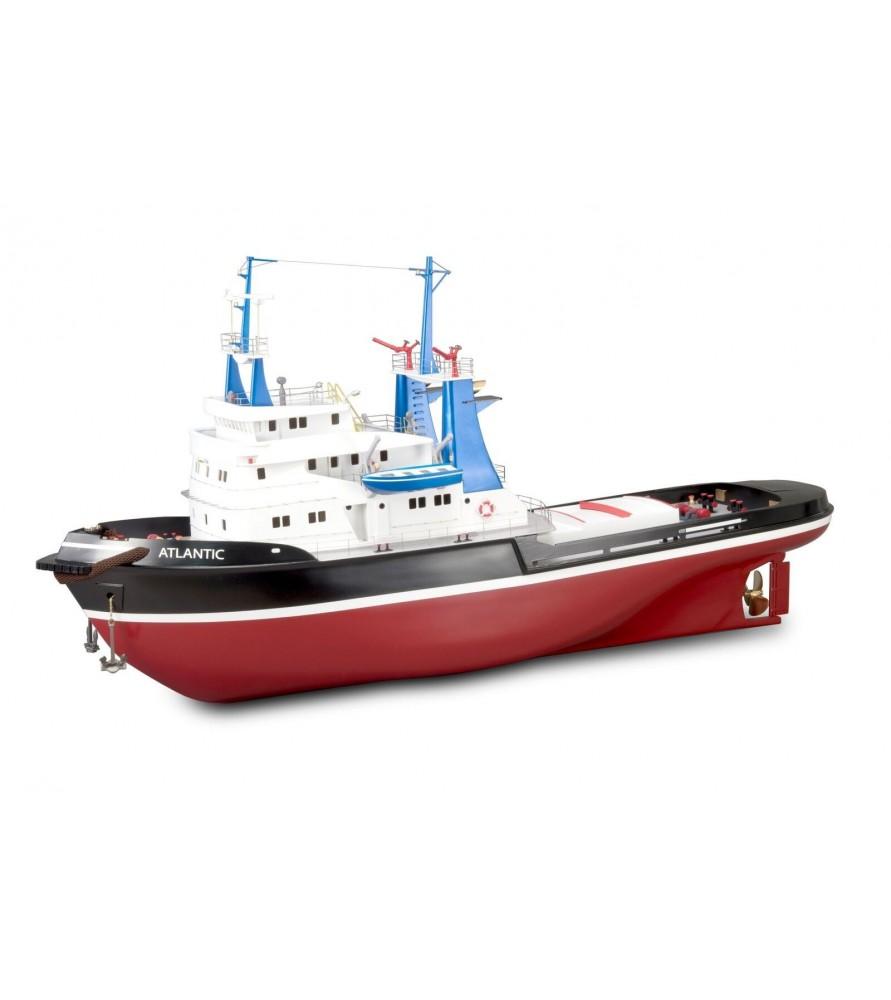 Wooden and Plastic Model Ship Kit: Tug Boat Atlantic 1/50