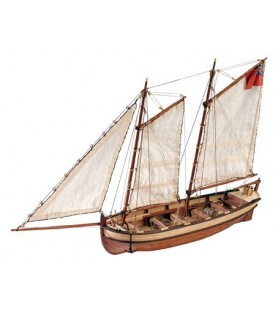 Wooden Model Ship Kit: HMS Endeavour's Captain Longboat 1/50