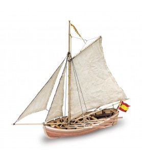 Wooden Model Ship Kit: San Juan Nepomuceno's Boat 1/25
