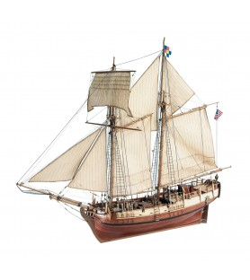 Wooden Model Shup Kit: Independence Schooner 1/35