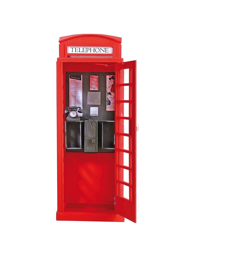 Maquette en bois construire cabine t l phonique de londres for Meuble cabine telephonique anglaise