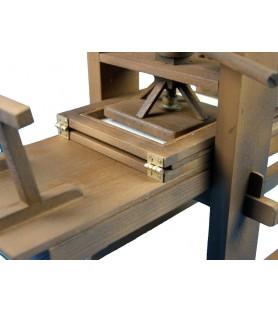 Wooden model: Gutenberg printing press