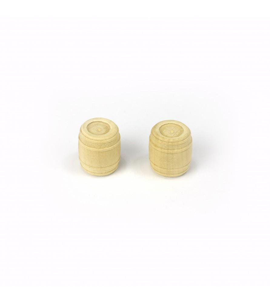 BARREL - CASK (BOXWOOD) 18 mm (2 u)