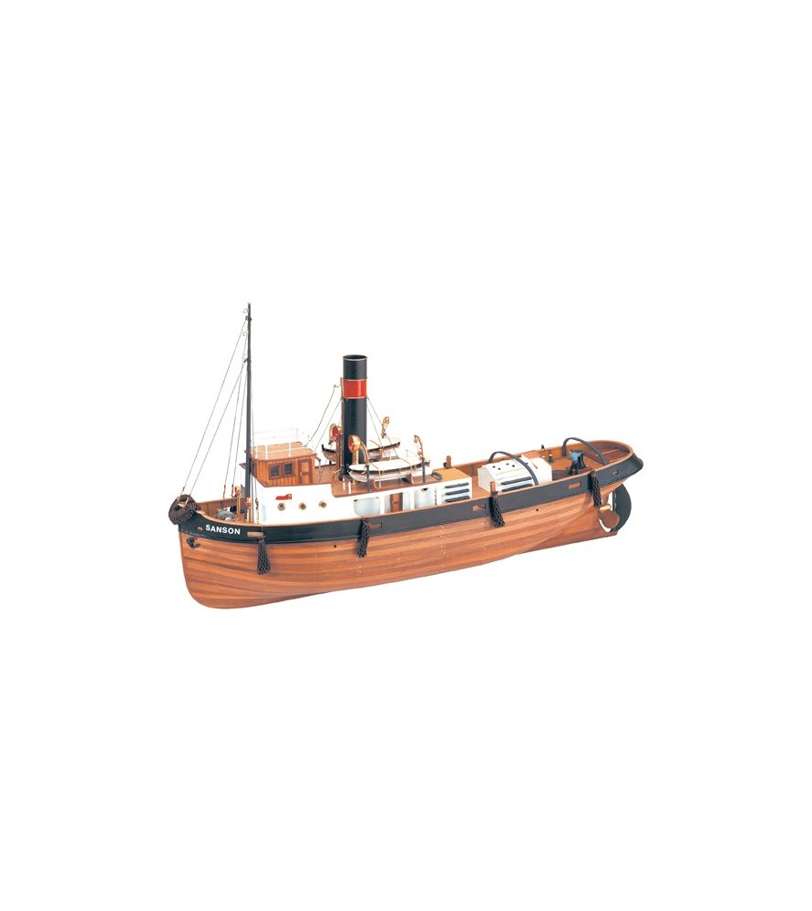 Wooden Model Ship Kit: Sanson Tugboat 1/50