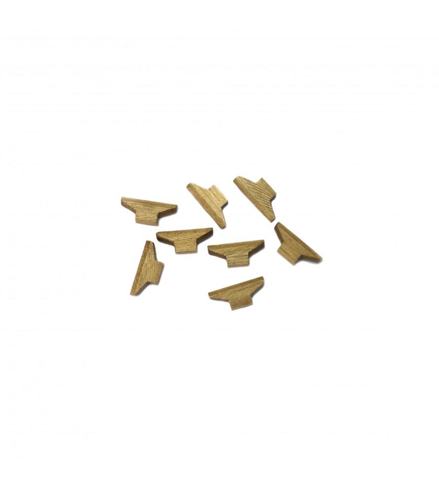 Ship model accessories: walnut nautical cleaf 6x12 mm