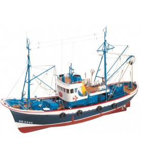 Wooden Model Ship Kit: Marina II Fishing Boat 1/50