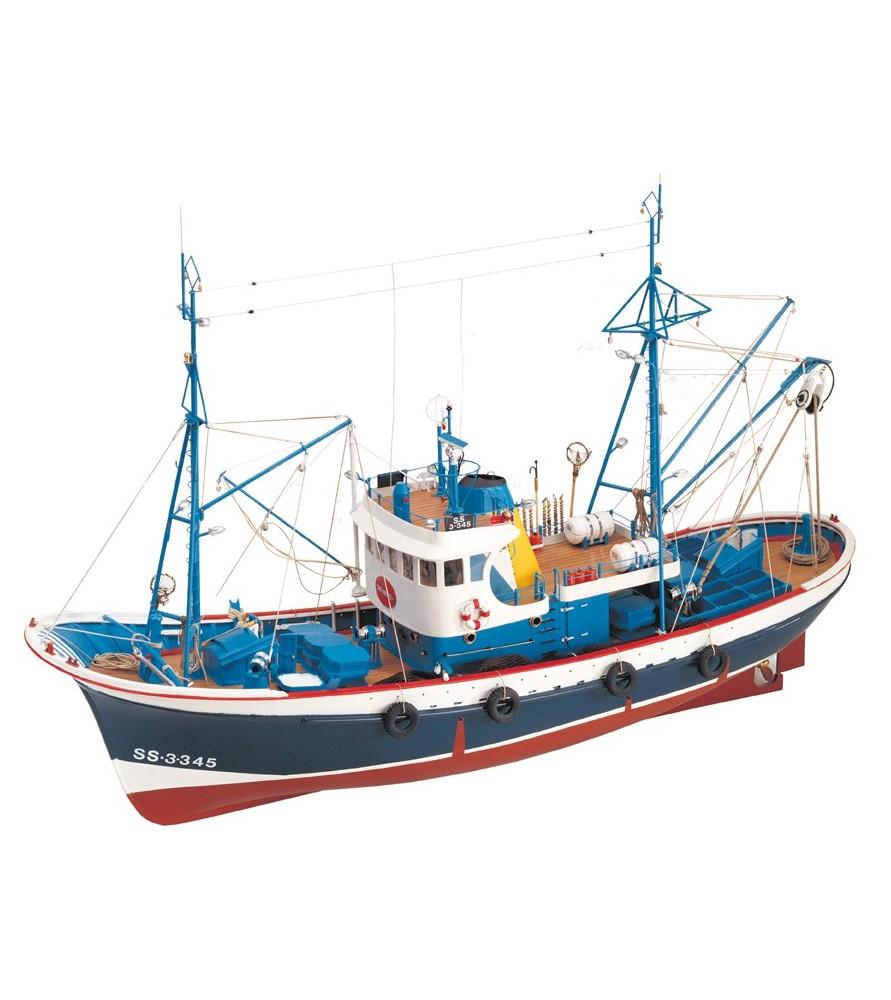 Maqueta de Barco en Madera: Pesquero Marina II 1/50