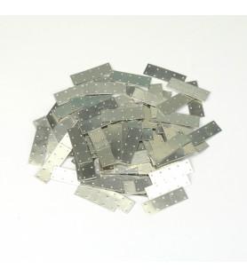 CHAPAS DE ALUMINIO DE 25 x 10 mm (100 uds.)