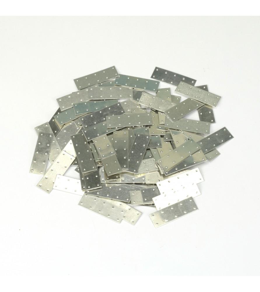 TÔLES D'ALUMINIUM 25 x 10mm (100 u.)