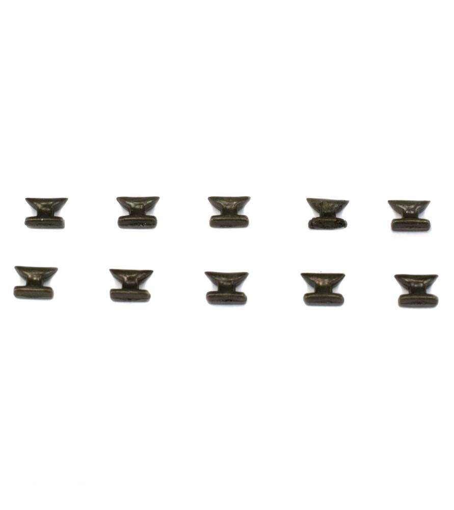 Accesorios modelismo naval: cornamusas 10 unidades