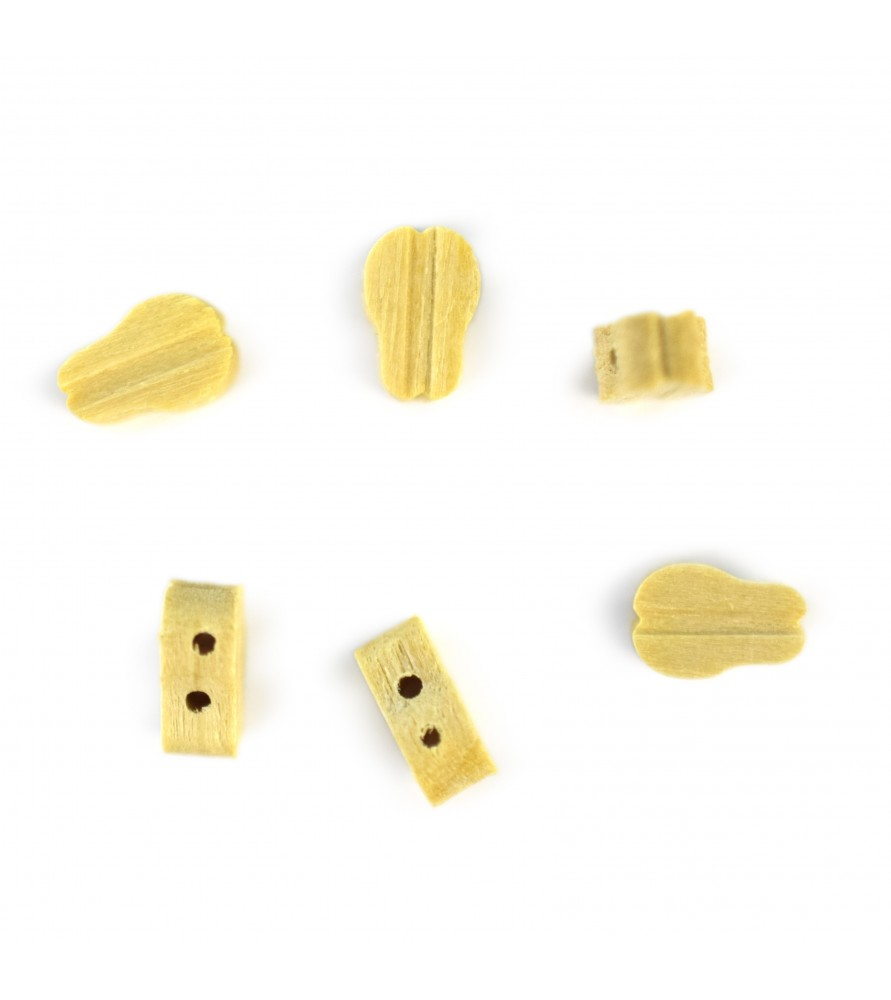 Ship model accessories: single block 2 holes 7 mm