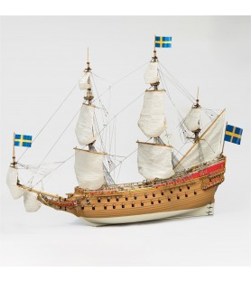 Wooden Model Ship Kit: Swedish Warship Vasa 1/65