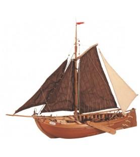 Wooden Model Ship Kit: Botter Fishing Boat 1/35