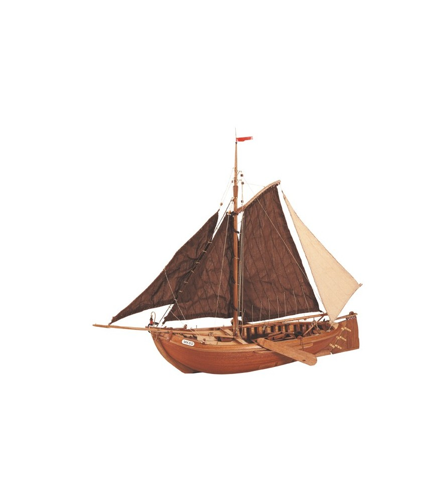 Wooden Model Ship Kit: Botter Fishing Boat 1/35